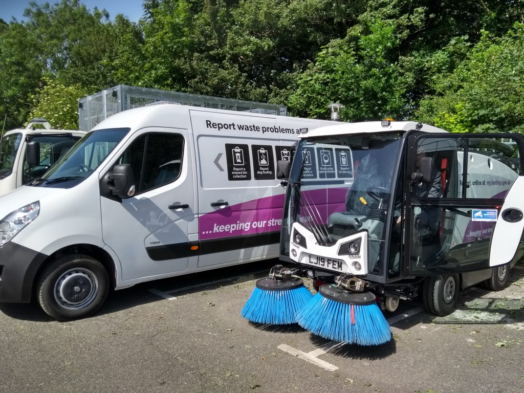 Hastings Council street sweeping vehicles